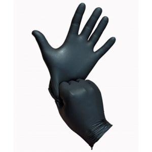 Rokavice črne (brez pudra) M 100kom