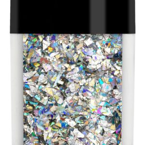 LECENTE HOLOGRAPHIC SILVER CRUSHED ICE GLITTER