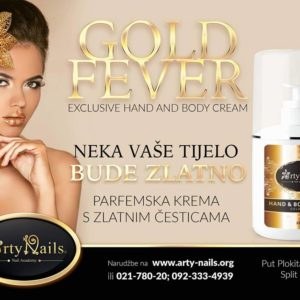 Arty Nails parfumska krema za roke GOLD FEVER (250ml)