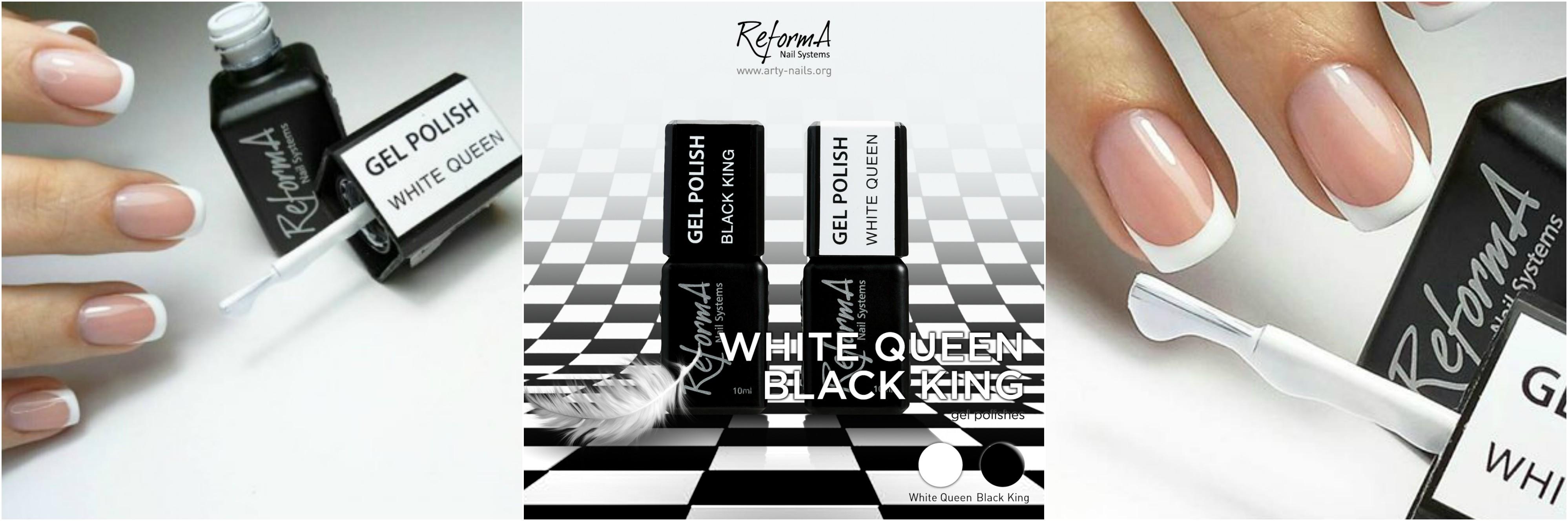 Reforma gel lak – White Queen in Black King